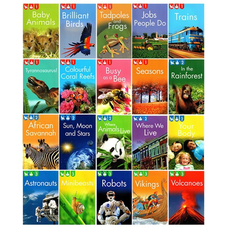 20 Books/Set Primary School Children Encyclopedia Popular Science Graded Reading Book Kingfisher Readers L1-L2-L3