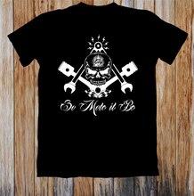 Freemason Widows Sons Masonic Hotrod Unisex Camiseta estilo redondo Camiseta
