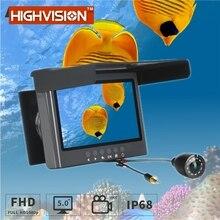 20M câble caméra poisson Finder infrarouge LED 5.0 pouces pêche Surveillance HD 2 mégapixels caméra sous-marine avec enregistrement 1080P