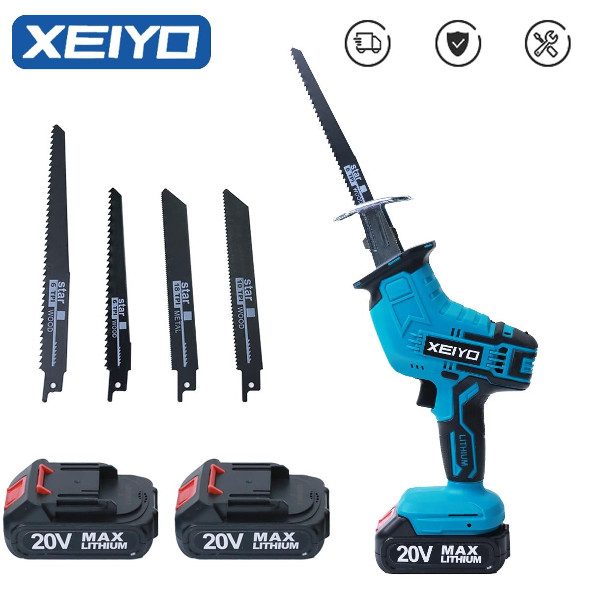 Сабельная пила XEIYO аккумуляторная электрическая, мини-пила с возвратно-поступательными аккумуляторами, резак для дерева, триммер, сучкорез