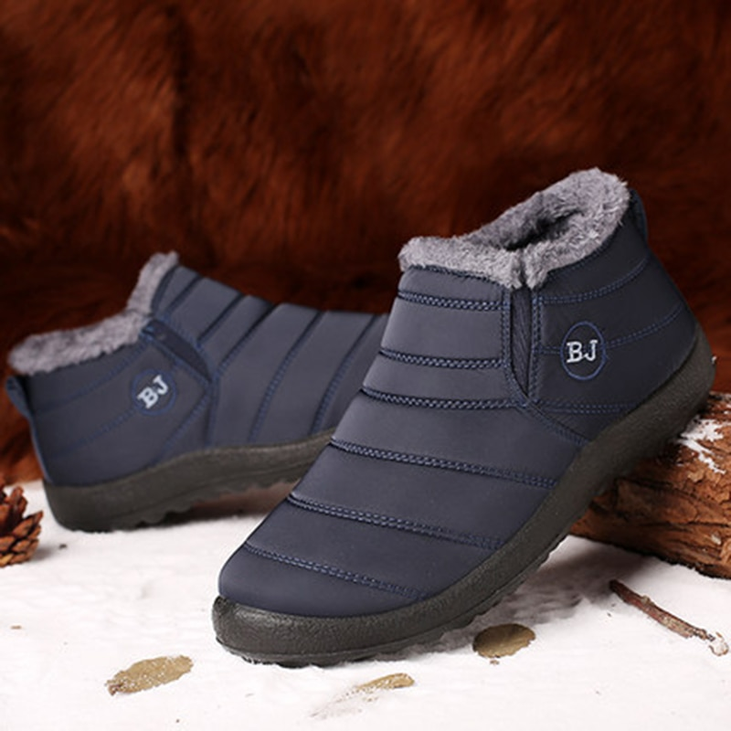 Winter Shoes For Men Boots Slip On Warm Fur Winter Sneakers Men Snow Boots Waterproof Ankle Boots Chaussure Homme Mans Footwear designer men winter military boots male snow fur combat ankle boots waterproof army rain shoes chaussure homme
