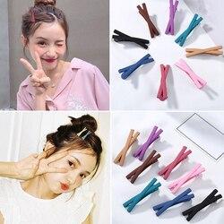1 pc meninas doce cor bowknot grampos de cabelo barrettes crianças acessórios para o cabelo feminino bonito headwear arco modelagem grampos de cabelo