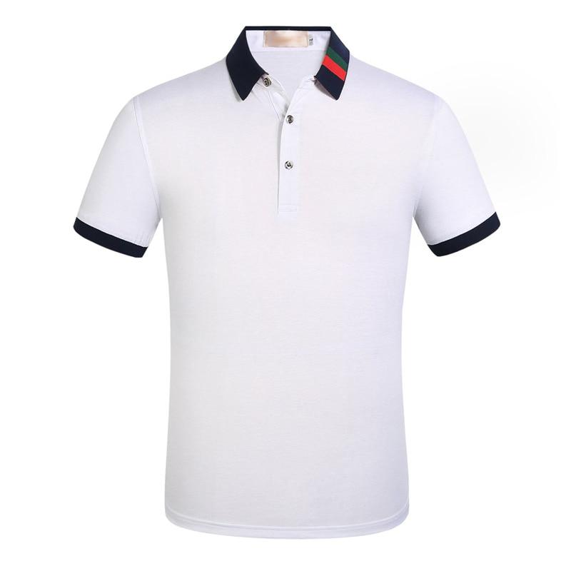 2019 Brand Quality Cotton Polo Shirt Men Solid Slim Fit Short Sleeve Polos Men Fashion Embroidery Men's Polo XXXL