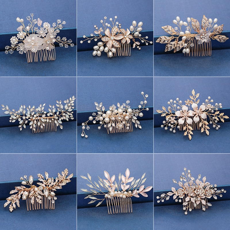Tiara hecha a mano de moda... peine para el pelo de boda...