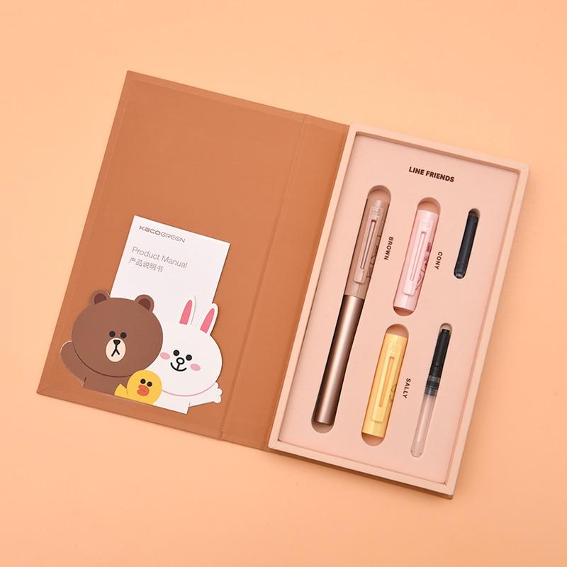 Kaco pluma Kacogreen Metal LINE FRIENDS estuche de bolígrafo de regalo para oficina financiera estudiante escuela bolígrafos de papelería