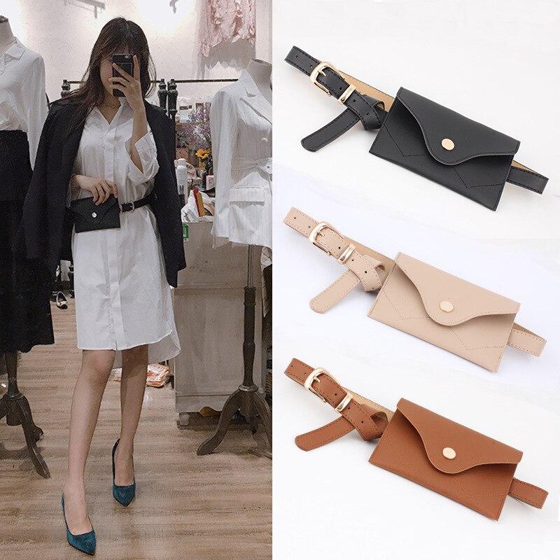 2019 Fanny Pack Women Belt Bag Leather Waist Bag Fashion Women's Pure Color PU Messenger Shoulder Chest Bag