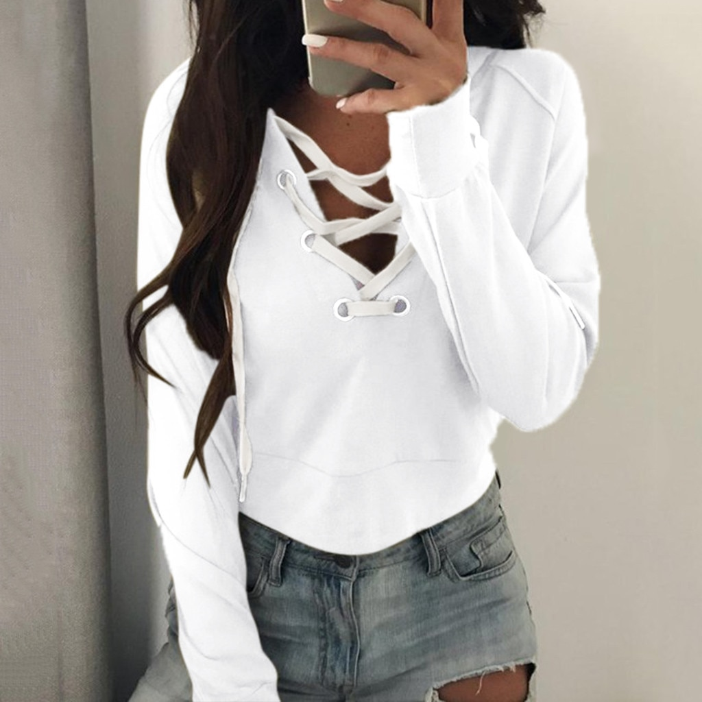 Autumn Clothes Pure Color Lace Hoodies For Women Streetwear Casual Fashion Thin Sweatshirt Female Ho