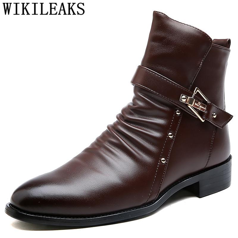 Zapatos de invierno zapatos hombres Botas para la nieve Botas de cuero...