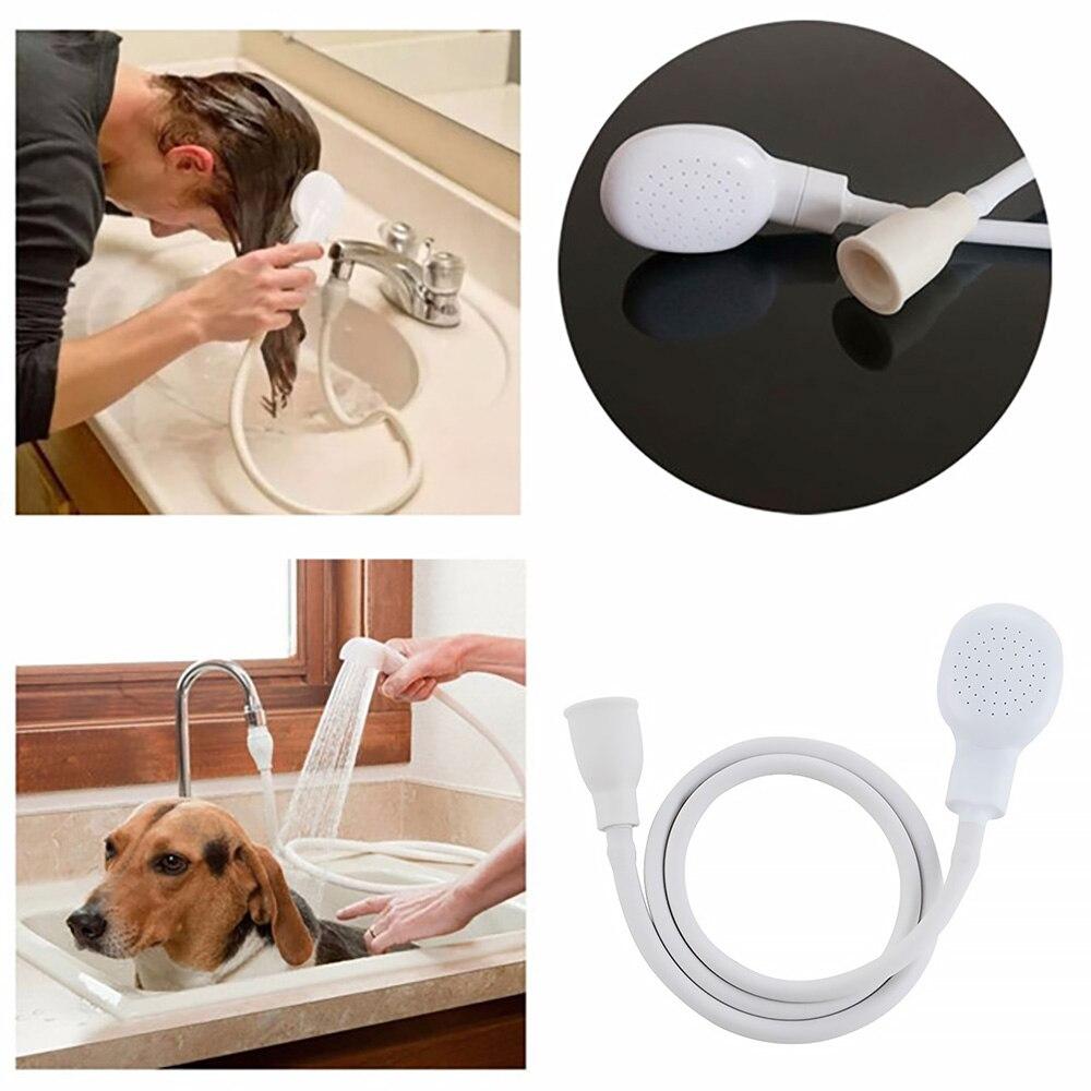 Multi-funcional do animal de Estimação Do Gato Do Cão Cabeça de Chuveiro Torneira Torneira Spray de Drenos Coador Com Mangueira de Lavar Cabelo Salvar Banho de Água Cabeças de Ferramentas Nova