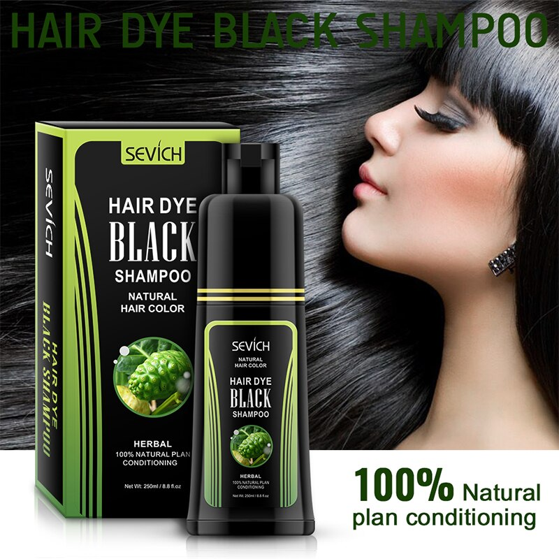 sevich erval 250ml natural planta condicionado tintura de cabelo shampoo preto tintura