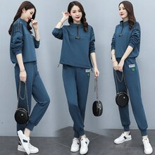 Autumn and Winter Fashion New Simple Elegant Korean Style Comfortable Slim-Fit Home Sweater Two-Piec
