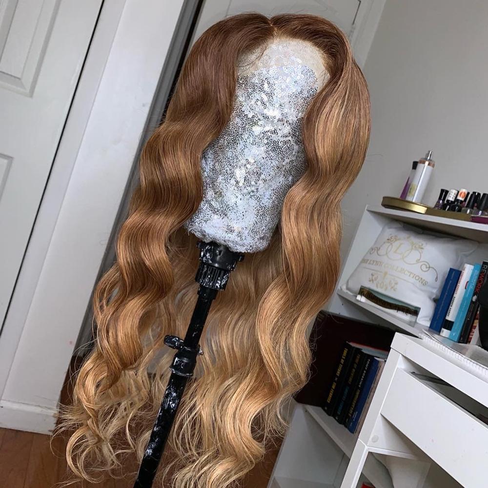 Peluca delantera de encaje de 13*6, pelucas de cabello humano ondulado para mujeres, peluca de cabello humano pre-arrancada LINMAN