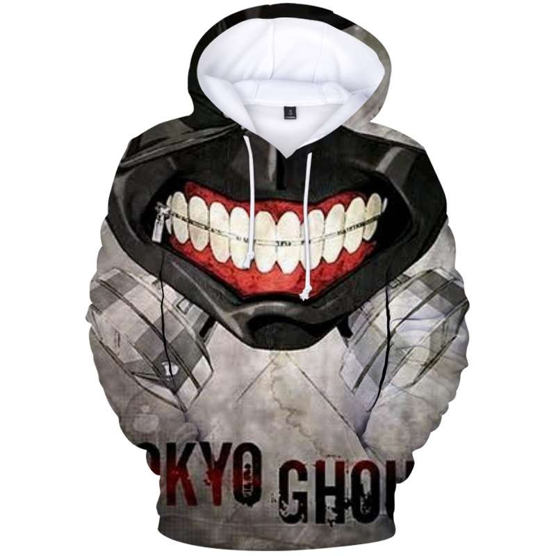 Hoodie Sweatshirt Pullover Streetwear Clothing  Harajuku Hip-Hop Tokyo Ghoul-Print Brand-Clothing 3d Men/women Casual Fashion