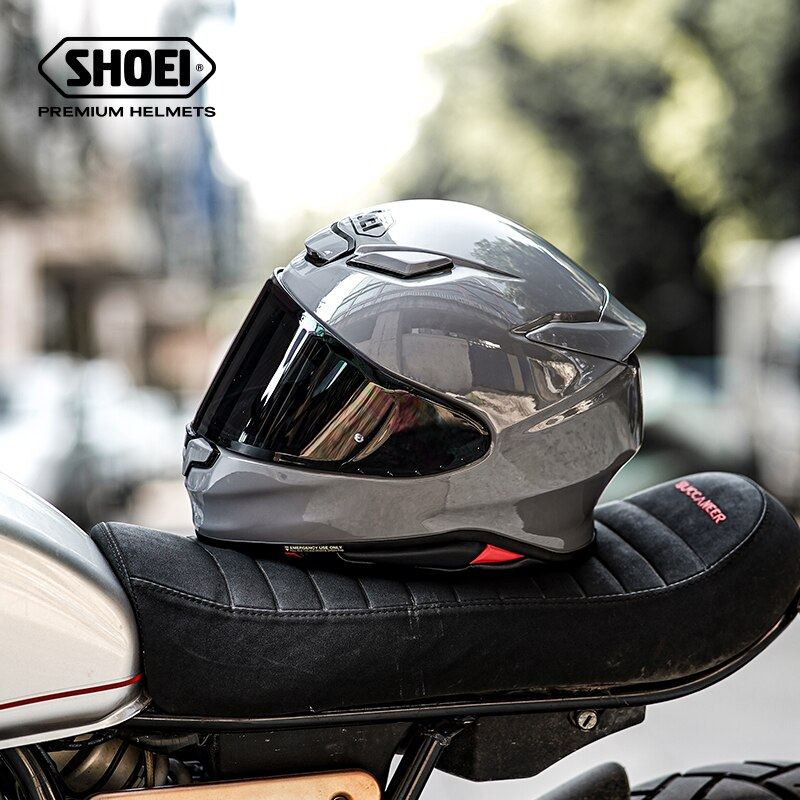 كامل الوجه دراجة نارية خوذة SHOEI Z8 RF-1400 خوذة ركوب الدراجات النارية سباق Motobike خوذة-الاسمنت رمادي