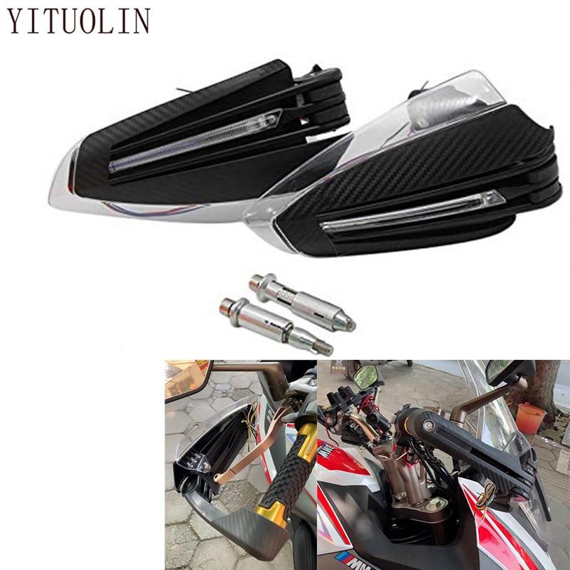 واقي واقي لليد للدراجة النارية من النوع LED لدراجات هوندا CB600 HORNET NC700X CB1000R CUB DIO AF18 CB500F CBF 1000 CB 400 SF