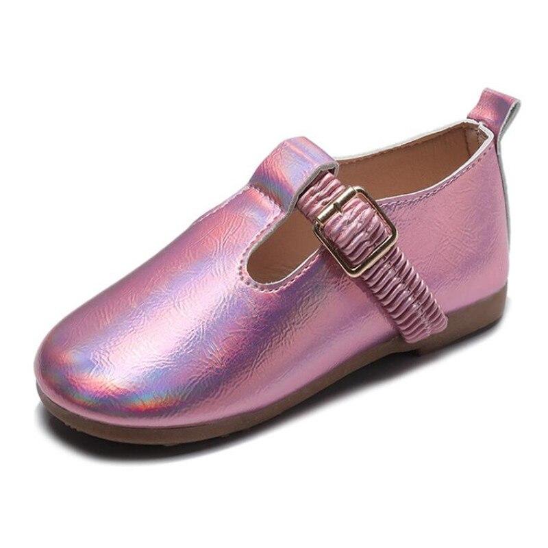 Rosa das crianças sapatos de couro 2020 primavera meninas princesa sapatos de escola para o casamento e festa meninas único sapatos chaussure fille