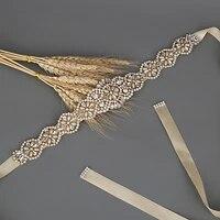 100 handmade golden crystal wedding belts for women waist band rhinestone bridesmaid belt champagne wedding dress belt sashes