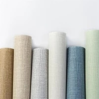 10m pvc waterproof self adhesive wallpaper silk and linen embossed wallpaper used for living room bedroom home decoration wallp