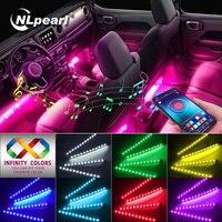 NLpearl APP автомобильный интерьерный окружающий светильник, неоновая Светодиодная лента, ножной светильник с USB беспроводной дистанционной му...