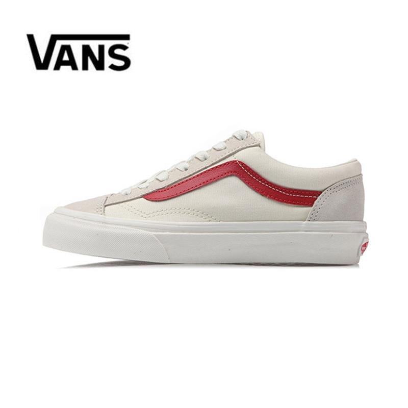 Original Vans Old Skool de lona de los hombres zapatillas de deporte Rojo Negro cómodo de las mujeres al aire libre zapatos36-44