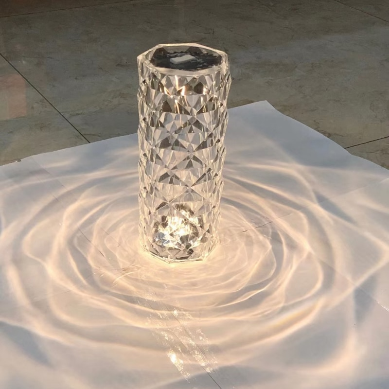 Spain VONDOM Imported Light Luxury Touch European Crystal Table Lamp Bedroom Restaurant Ambient Light Living Room Diamond Lamp