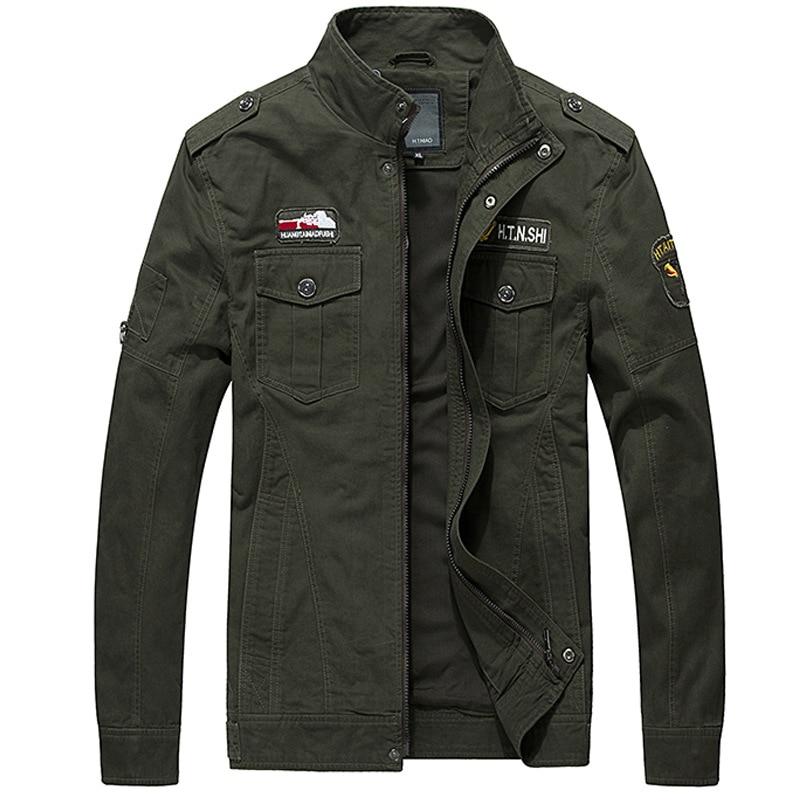 Мужская осенняя куртка, Мужская куртка, повседневная хлопковая куртка с лацканами и несколькими карманами в стиле милитари, Мужская класси...