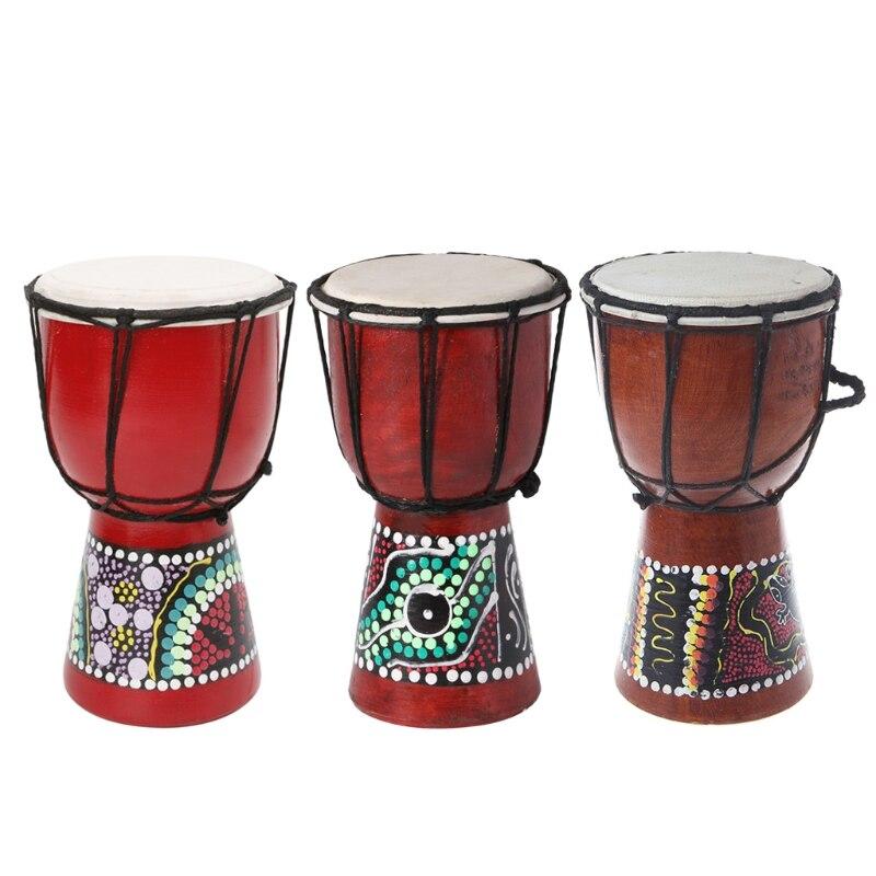 2020 nuevo 4 pulgadas profesional africano Djembe tambor Bongo madera buen sonido instrumento Musical