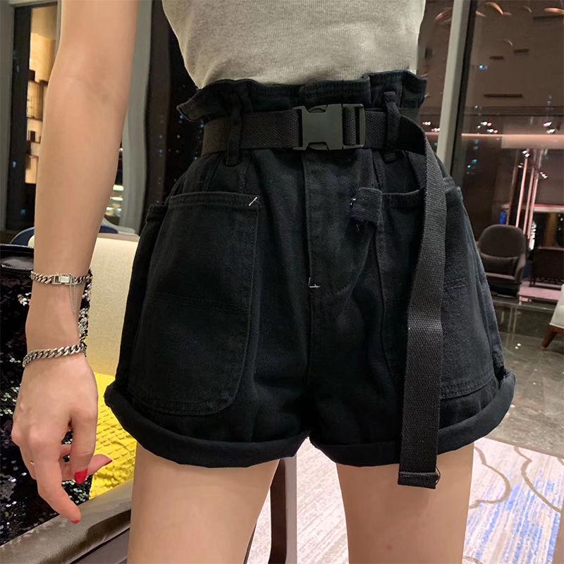 Women Summer Solid Harem Shorts Loose  Gray Knee Length Trousers Female Soft Elastic Waist Capris