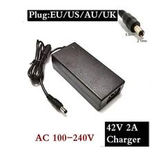 Cargador de batería de bicicleta eléctrica 36V 2A salida 42 V 2 A entrada de cargador 100 -240 VAC Li-ion li-poly cargador para 10series