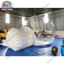 Tente gonflable de bulle de dôme de pvc de 0.6mm, tente gonflable de camping de diamètre de 4m à vendre