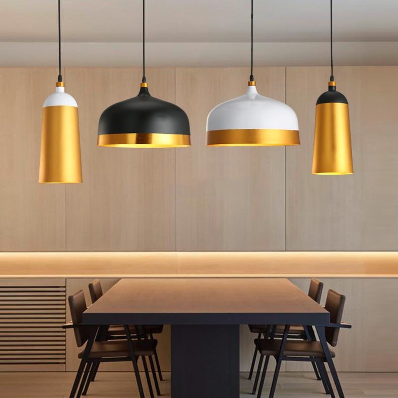 الشمال الحديثة الألومنيوم E27 قلادة الأنوار ، غرفة المعيشة طاولة طعام الممر السرير الإضاءة الزخرفية