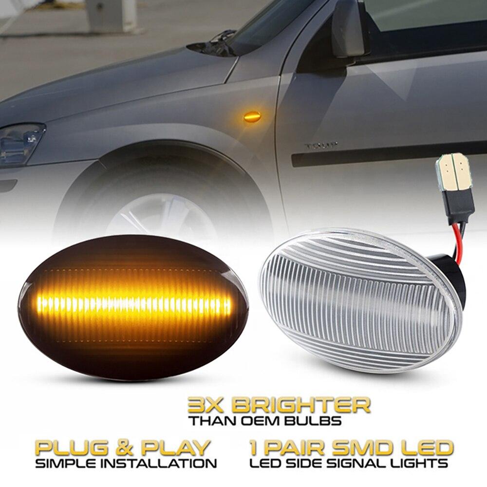 Последовательный светодиодный поворотный сигнал, динамический индикатор для Opel Astra F Corsa C Combo Meriva A Tirgra Sintra
