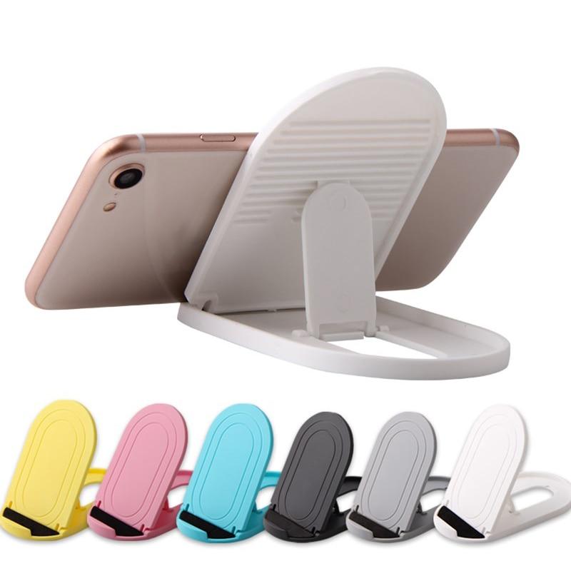 Soporte de mesa de plástico plegable colorido para teléfono móvil soporte de plástico Universal portátil soporte para teléfono tableta ver película