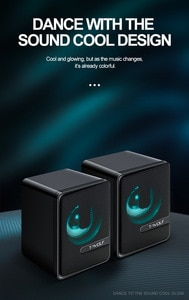 2021-DS1  Usb PC Speakers Luminous Stereo Notebook Desktop Active Audio Cross-Border Portable With 2 Parts Subwoofer Pro