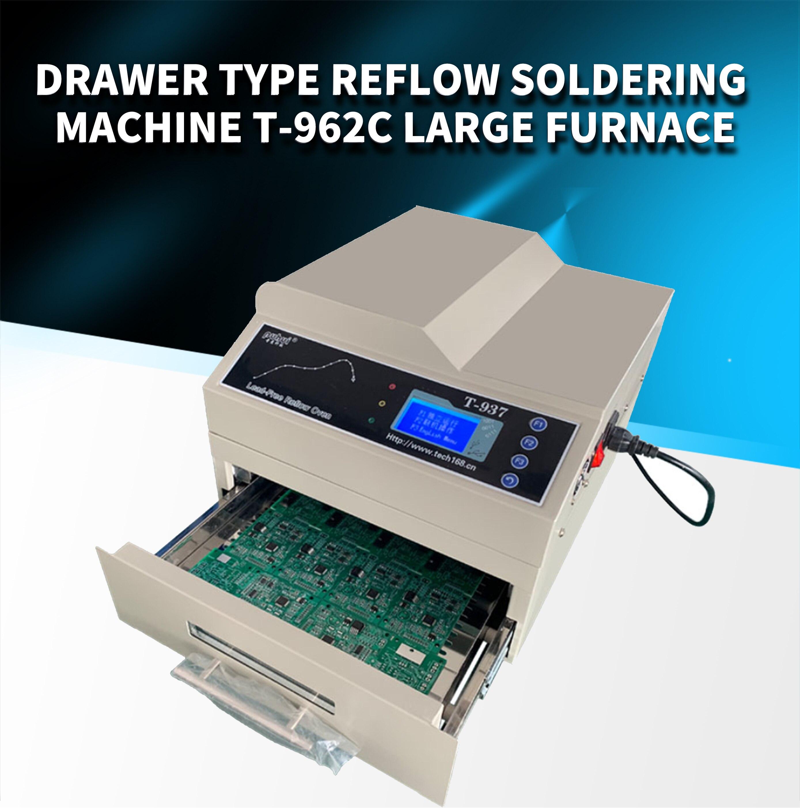 جديد PUHUI أذن T-937 Leadfree Relow فرن الأشعة تحت الحمراء IC سخان T937 لحام إنحسر بغا SMD SMT إعادة صياغة التعويضات المالية T 937