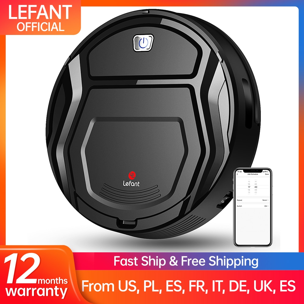 Lefant M201 Robot Vacuum Cleaner Home Household Professional Sweeping cleaner for Pet hair Anti Collision Automatic Recharge