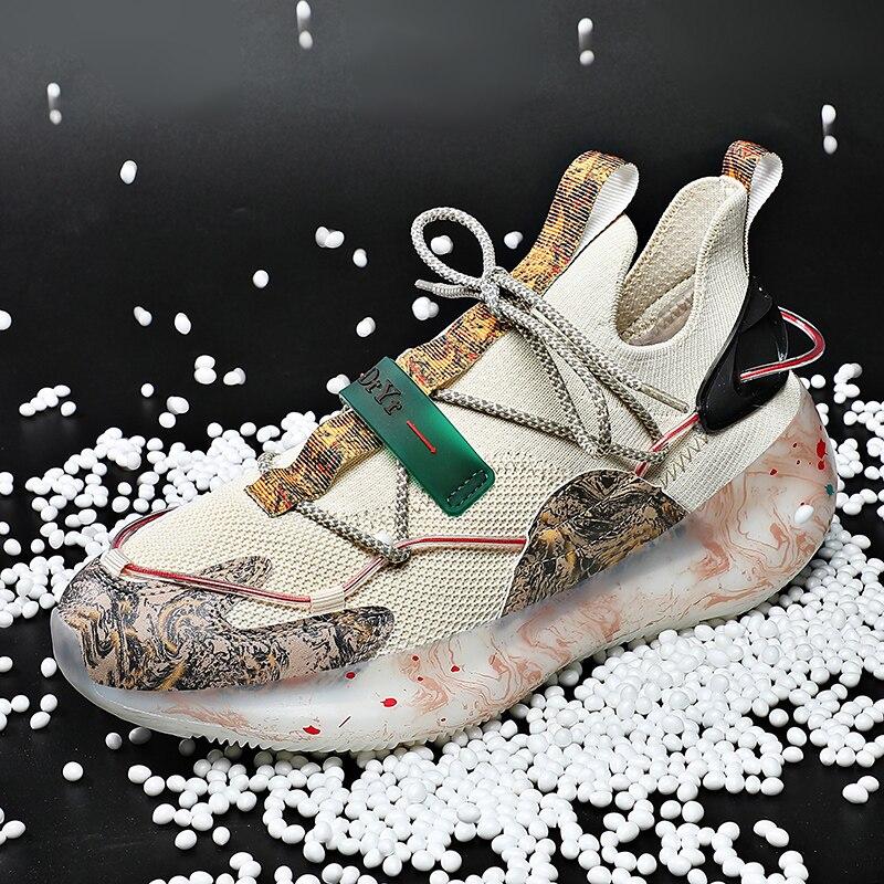 حذاء رجالي أحذية رياضية رجالي حذاء كاجوال حذاء أبيض الذكور موضة الصيف احذية الجري للرجال عدم الانزلاق تنفس طالب Shoes2021