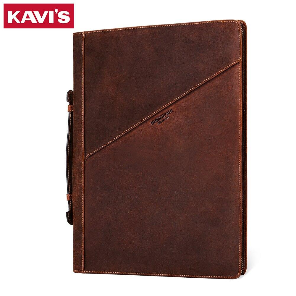 KAVIS New Men Clutch Bags Large Capacity Men Wallets Crazy Horse Leather Long Handbag Male Multifunction Wallet Passport Cover