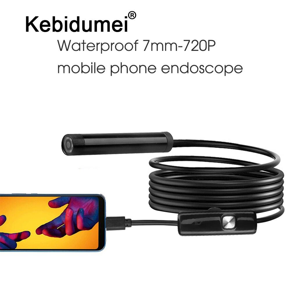 Kebidumei USB Endoscope étanche 6 LED 1m 7mm téléphone Endoscope 720P HD Endoscope serpent Tube dinspection caméra vidéo plus récent