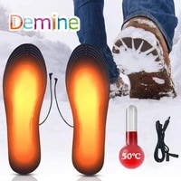 usb electric heated shoe insoles for feet warm socks pad thermal insoles for winter outdoor sports shoes inserts heating insoles