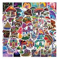 103050pcs cute cartoon psychedelic mushroom graffiti stickers laptop skateboard motorcycle phone car aesthetic sticker toy