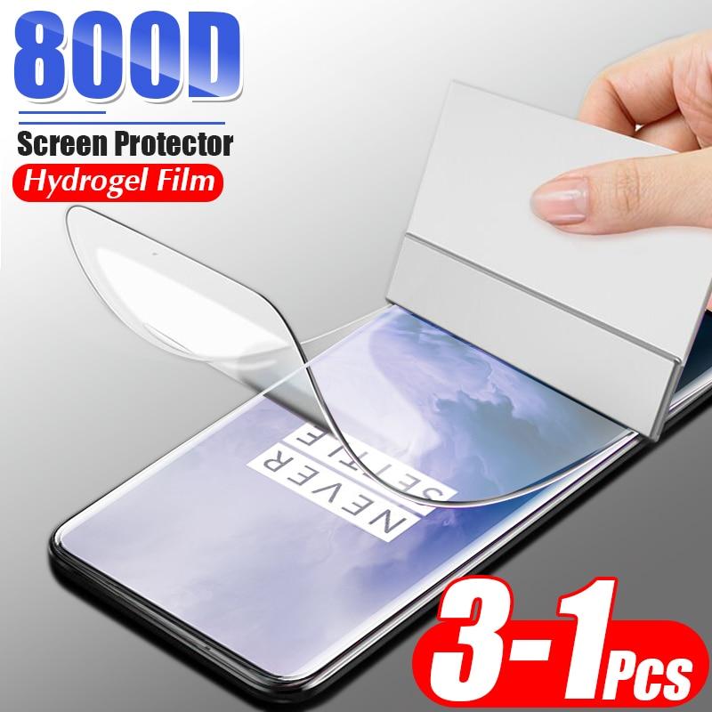 3-1Pcs 800D Weiche Hydrogel Film Für Oneplus 7 Pro 7T 6 6T 5 5T full Screen Protector Für Oneplus 8 Lite Schutz Film Nicht Glas