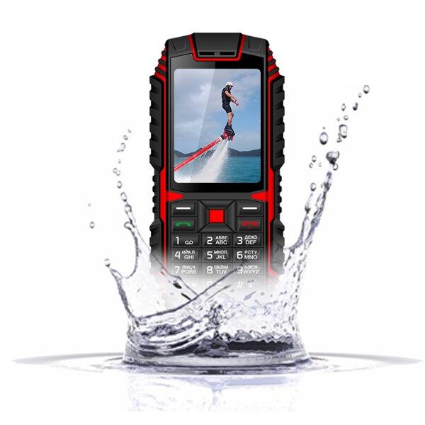 XGODY ioutdoor T1 2G IP68 teléfono impermeable 2,4 pulgadas teléfono Celular 128M + 32M GSM 2MP cámara trasera FM 2100mAh teléfono móvil resistente