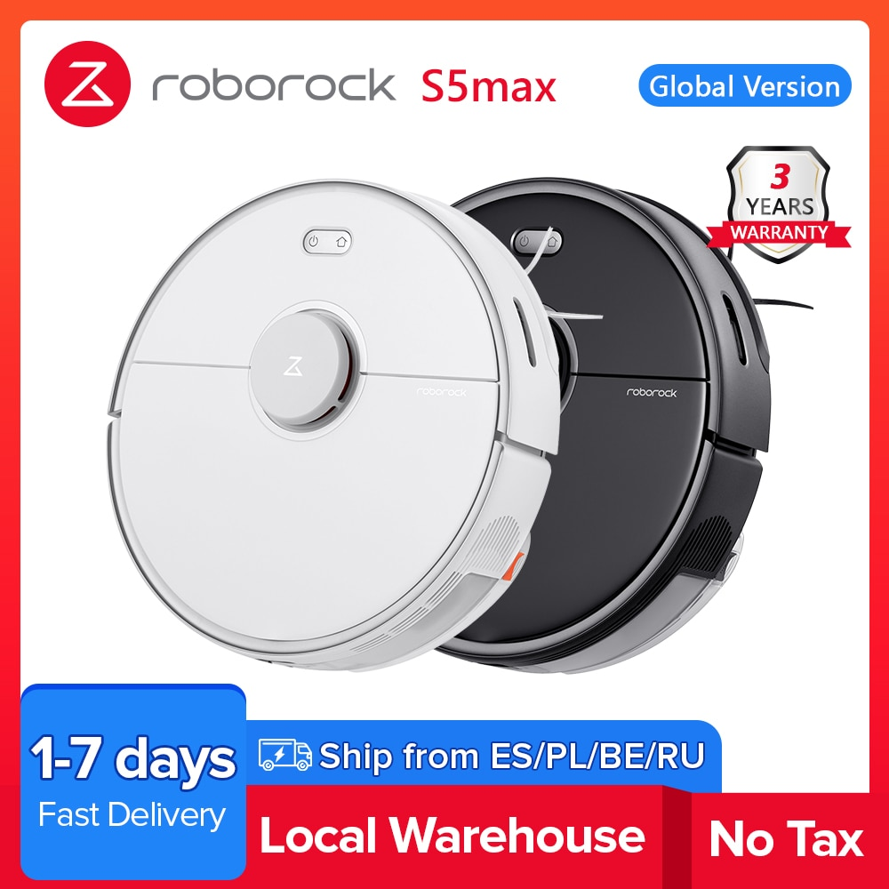 aliexpress.com - 2021 Roborock S5 max Vacuum Cleaner Wet Dry Robot Mopping Sweeping Dust Sterilize Smart Planned Wash Mop upgrade for S50 S55