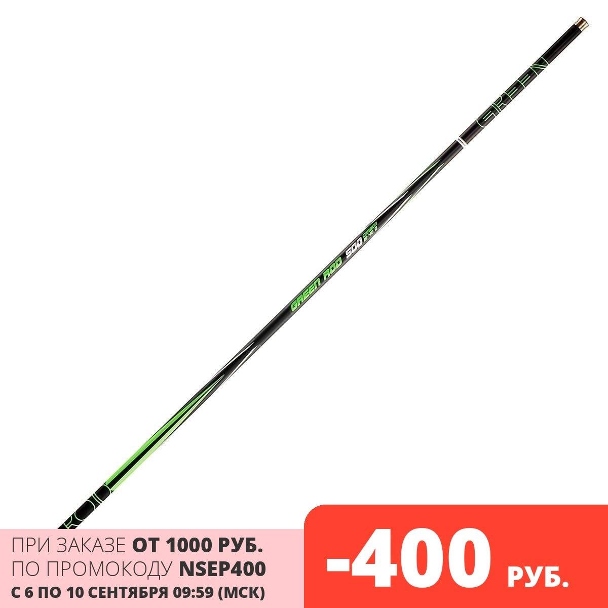 Удилище маховое NISUS GREEN ROD carbon, 5m, 15-40g (N-GR-500)
