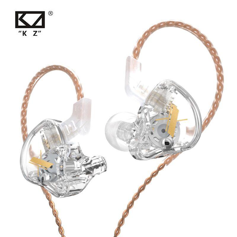 KZ EDX 1DD Dynamic Earphones HIFI Bass Earbuds In Ear Monitor Earphones Sport Noise Cancelling Cryst