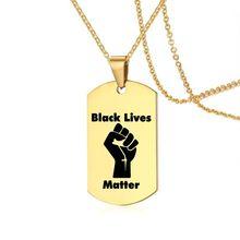 Zwart Leven Kwestie Ketting Amerikaanse Protest Soldaat Goud-Plaat Militaire Merk Ketting Rvs Vuist Ketting Sieraden