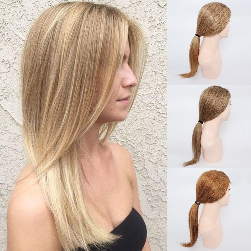 Kisshair #8 #27 #30 straight front lace wig ash brown honey blonde medium auburn 4x4 lace closure wig Indian human hair wig