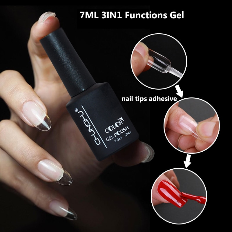 7ml Nail Glue For False Nails Adhesive Acrylic French Art False Nail Tips Function Nail Gel Fast Ext