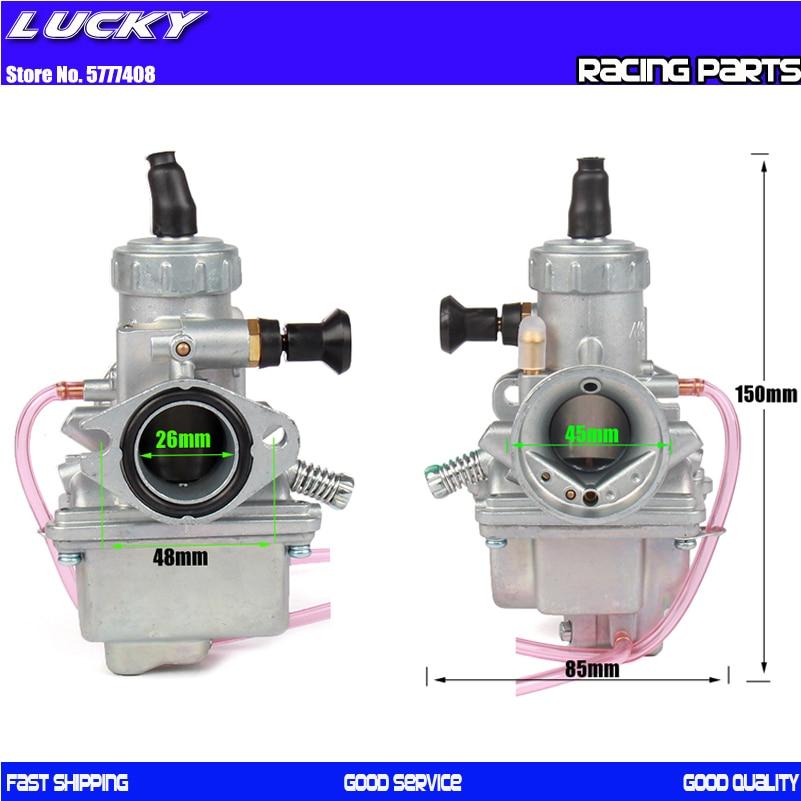 MOLKT Vergaser 26mm Carb für 125cc 140cc Pit Dirt Bike ATV Quad PZ26 Leistung Vergaser